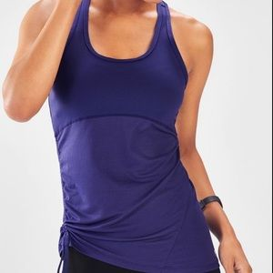 Fabletics Purple Cashel Curved Cinch Tank Sz Small